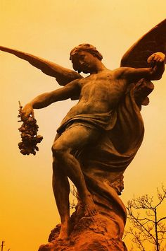 Saturated Sepia Statue