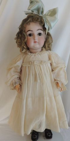 21 IN Kestner #128 Antique German Bisque Doll - c1880's