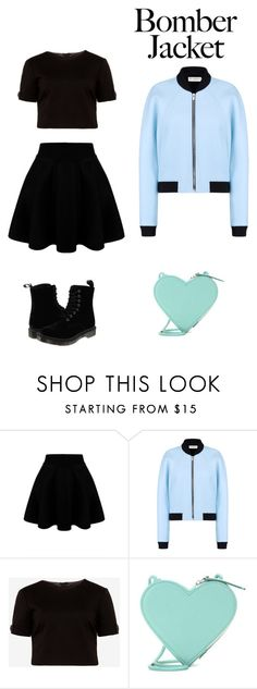 """""""Bomber jacket"""" by jayaruebear ❤ liked on Polyvore featuring Balenciaga, Ted Baker, Christopher Kane and Dr. Martens"""