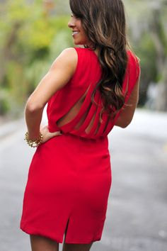 Kiss On The Lips Dress: Deep Red | Hope's #shophopes