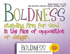 Character Quality: Boldness - Standing firm for God in the face of opposition… Character Traits For Kids, Character Qualities, Teaching Character, Character Counts, Character Development, Teaching Activities, Teaching Kids, Children Ministry, Bible For Kids