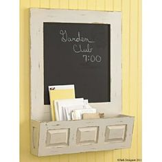 The Country Porch features the Southport Chalkboard Letter Box from Park Designs. Kitchen Chalkboard, Chalkboard Lettering, Chalkboard Ideas, Office Supply Organization, Wall Organization, Home Command Center, Command Centers, Letter Organizer, Letter Holder