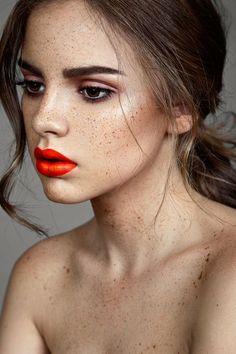 Love this bright pop of orange! Try Kjaer Weis Lipstick in Love