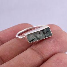 Handmade Rings, Handmade Bracelets, Earrings Handmade, Raw Emerald, Emerald Stone, Raw Gemstone Ring, Gemstone Necklace, 925 Silver, Sterling Silver Rings