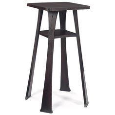 GUSTAV STICKLEY: Tom Jones Drink Stand, #99, Cut Corner Top Over