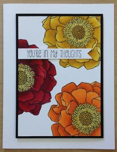 Blended Blooms using Stampin' Up!s new Blendabilities markers