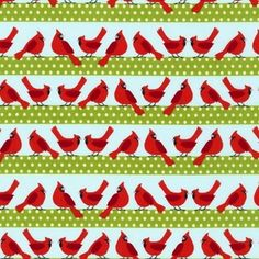 Cardinal Stripe in Holiday from Holiday Sweet Tweets by Laurie Wisbrun for Robert Kaufman Fabrics