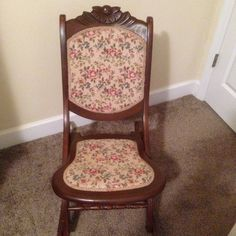idea for my antique folding rocking chair ladies sewing rocker
