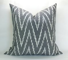 Kasari ikat pillow cover in Graphite  20 x 20 by sparkmodern, $65.00