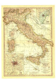 Vintage+Maps+-+4+Italy.jpg (1065×1600)