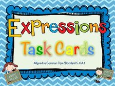 Order of Operations and Evaluation Expressions Task Cards for Common Core $