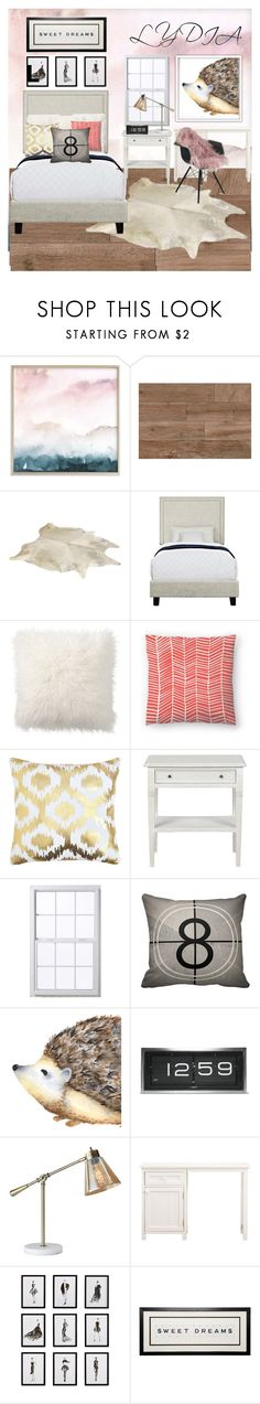 """""""my happy place: my bedroom"""" by lydiaann05 ❤ liked on Polyvore featuring interior, interiors, interior design, home, home decor, interior decorating, Pottery Barn, LEFF Amsterdam, Adesso and PBteen"""