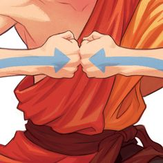 Drawing a new thing for an old thing. ➡️⬅️  #aang #avatarthelastairbender #grutbrushes #kylewebsterbrushes