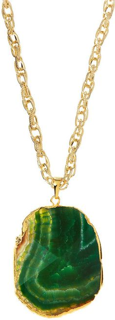Last Call by Neiman Marcus Panacea Green Agate Pendant Necklace on shopstyle.com