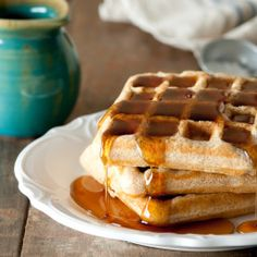 These waffles are very light and fluffy for being whole wheat. Very yummy and healthy too. - Whole Wheat &  Flax Waffles