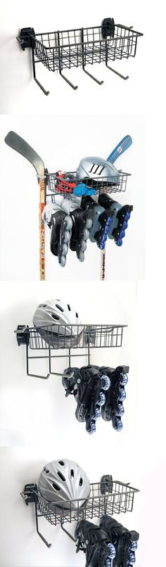 Organized Living Skate Rack with Basket, From ice skates to roller skates to rollerblades, the Organized Living Activity Organizer Skate Rack and Basket keeps them readily at hand for your next fun excursion. Simply attach the Skate Rack and..., #Tools & Hardware, #Utility Racks