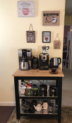 home coffee bar ideas ~ home coffee bar - home coffee bar ideas - home coffee bar station - home coffee bar ideas small spaces - home coffee bar on counter - home coffee bar diy - home coffee bar joanna gaines - home coffee bar ideas joanna gaines Coffee Bar Station, Coffee Station Kitchen, Coffee Bars In Kitchen, Coffee Bar Home, Home Coffee Stations, Kitchen Small, Coffe Bar, Kitchen Corner, Tea Station