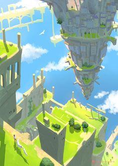 """Hi I'm Oswaldo I'm a illustrator,animater and concept artist based inTokyo. I like paint pictures of otherworldly landscapes. Environment Concept, Environment Design, Fantasy Landscape, Landscape Art, Fantasy World, Fantasy Art, Modelos 3d, Game Concept Art, Environmental Art"