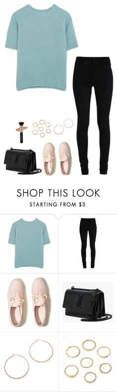 """Untitled #1184"" by h1234l on Polyvore featuring MaxMara, Hollister Co., Yves Saint Laurent and Jennifer Zeuner"