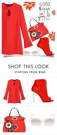 """Red and white"" by juliehooper ❤ liked on Polyvore featuring Derek Lam, Vic Matié, Fendi and Miu Miu"