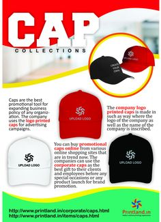 Buy Promotional or Corporate Caps with Company Custom Logo Printed Online  in India 7a6ddab89409