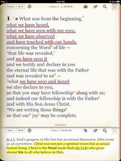 God became TOUCHABLE through Jesus Christ (1 John 1:1-3, John. 20:27) Bible Notes, Bible Verses, Yes And Amen, Bible Commentary, The Great I Am, Bible Study Tools, Bible Teachings, 1 John, Bible Studies