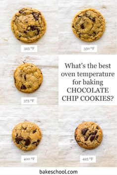 """Most recipes tell you to """"preheat your oven to 350 ºF (180 ºC)"""" but why do we bake at 350 ºF? Learn about baking temperature, a bit about convenction baking and some tips & tricks to finding the right oven temperature for your baked goods. Baking Tips, Baking Recipes, Cookie Recipes, Dessert Recipes, Baking Hacks, Desserts, How To Make Chocolate, Homemade Chocolate, Baking Chocolate Chip Cookies"""