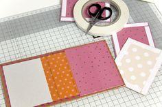 #WashiWoche Anleitung für ein Minialbum mit Washi Tape-Bindung von Melanie Hoch für www.danipeuss.de #scrapbooking #minibook #tutorial #washitape #maskingtape #diy