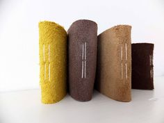 Set of Four Mini Suede Leather Notebooks Small by peonyandthistle, £18.00