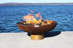 Sculptural Firebowls by artist John T. Unger are American made luxury fire features. Unger's art has been seen in The New York Times, HGTV and DIY network. Hotel Indigo, Rancho Mirage, Into The Fire, Fire Bowls, Cold Rolled, Diy Network, Zen, Fonts, Recycling