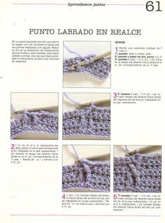patrones asgaya: puntos relieve crochet