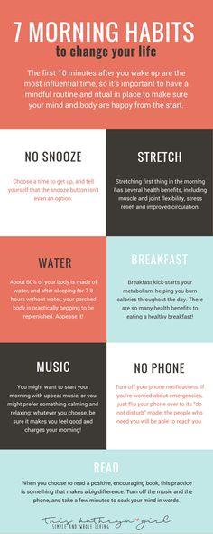 7 Easy Healthy Morning Habits | This Kathryn Girl #ILoveMeditation