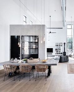 One of the most popular interior design for home is modern. The modern interior will make your home looks elegant and also amazing because of its natural material. If you want to design your home inte Home Design, Home Interior Design, Interior Architecture, Design Ideas, Room Interior, Design Trends, Apartment Interior, Studio Apartment, Warehouse Apartment