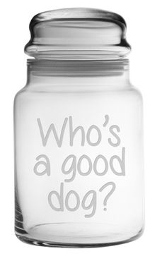Who's A Good Dog? Treat Jar Who's A Good Dog? This adorable pet treat jar is…