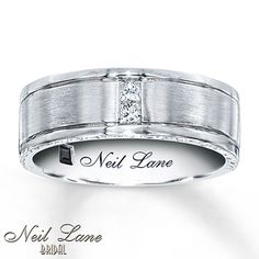 This Would Be Perfect Neil Lane Mens Band Ct Tw Diamonds White Gold