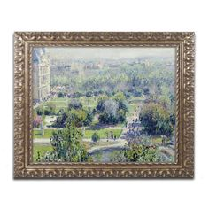 View of the Tuileries by Claude Monet Framed Painting Print