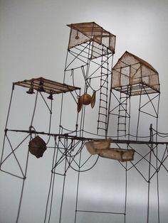 'du Fil de Fer.' Whimsical models by Isabelle Bonte. (****See the full view above.)