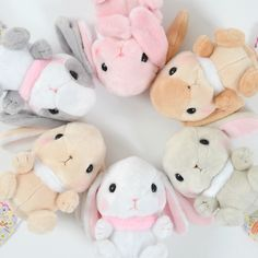 Order the full set and receive a randomly selected mini plushie as a free bonus!*Please note that the series and version of the free bonus mini plushies will be selected at random. If you've ever seen a Pote Usa Loppy bunny, you know just how cute they can be. If you thought they couldn't get any cuter, guess what: This time, Shiroppy, Mimi-pyon, Chappy, Gray-pyon, Castelappy, and Panpy are fl... #plushie