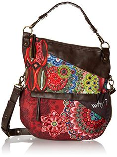 Desigual Folded Seduccio Cross Body Bag, Boiler Red