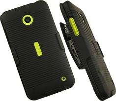 """NAKEDCELLPHONE'S BLACK RUBBERIZED HARD CASE + BELT CLIP HOLSTER STAND FOR NOKIA LUMIA 630 635  http://topcellulardeals.com/product/nakedcellphones-black-rubberized-hard-case-belt-clip-holster-stand-for-nokia-lumia-630-635/  Protective Cover + Custom Holster Case Rubberized Coated For Grip And Durability Holds Phone Both Ways: """"Face-Out"""" For Viewing Or """"Face-In"""" For LCD Screen Protection"""