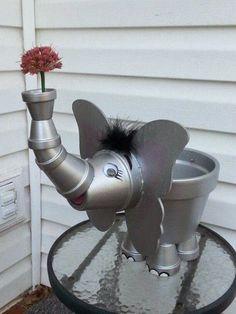 Terracotta Pot Elephant