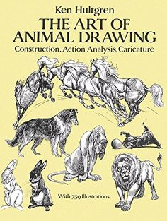 The Art of Animal Drawing: Construction, Action Analysis, Caricature (Dover Art Instruction) Learn to draw animal forms All levels learn draw animal forms Ken Hultgren Disney animator student, amateur, professional Drawing Lessons, Drawing Techniques, Fantasy Character, Construction Drawings, Line Illustration, Character Design References, Learn To Draw, Disney Art, Walt Disney