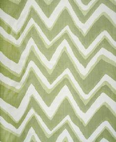 """@Kravet - Brunschwig & Fils """"Chevron Bar Silk Warp"""" print in Aloe"""