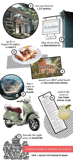 Guide to Savannah found on Note to Self blog
