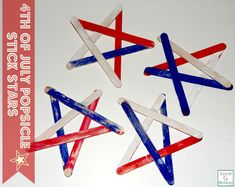 4th of July Popsicle Stick Stars from Mama to 5 Blessings