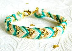 "Hello Zee Featured on LUCKY MAGAZINE .COM !! as part of the ""16 Etsy Friendship Bracelets For You And Your BFF"""