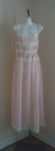 Vintage 1950s Kayser Pink Nightgown on Etsy