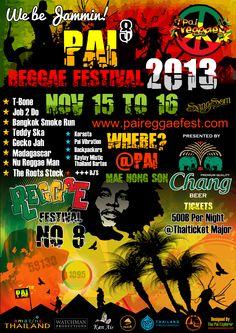 Reggae Posters | Pai Reggae Festival | Pai Explorer