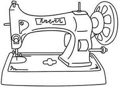 Enjoy some old-school crafting with this antique sewing machine on tote bags and machine covers! Downloads as a PDF. Use pattern transfer paper to trace design for hand-stitching.