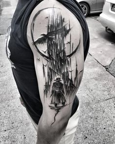 #thegunslinger #darktower #stephenking #wowtattoo #blacktattoomag #blacktattooart #inkstinctsubmission #equilattera #black #tattoo #btattooing #darkartists #blackworkerssubmission #blackwork #blackworkers #tattoo #tattrx